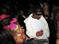 Paris Hilton sexy in Pink at Easter Party