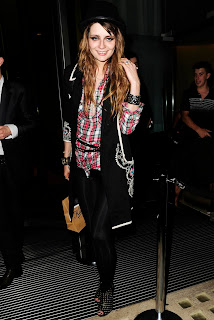 Micha Barton Looks While Leaving Bungalow 8 Night Club In London