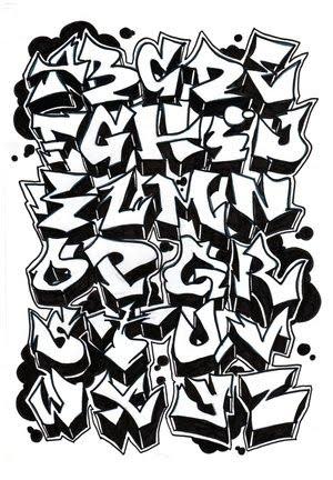 Graffiti Alphabet Characters