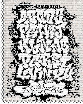 Alphabet Graffiti : Letter A-Z Graffoto Block Style