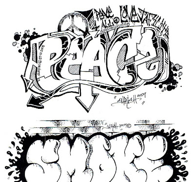 Unique Graffiti Letters Collection