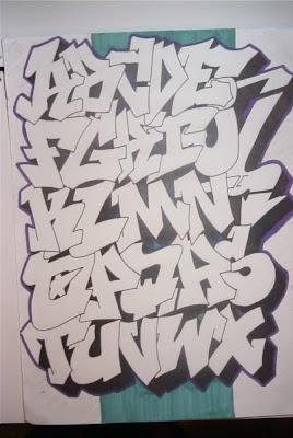 graffiti amazon: Sketch Design Letters A - Z for Graffiti Alphabet ...