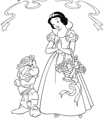 Tangled Coloring Sheets on Princess Cinderella Coloring Pages Pleading On Dwarves