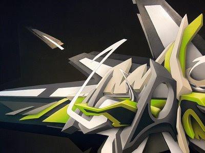 pb point blank_07. Realistic 3D Graffiti