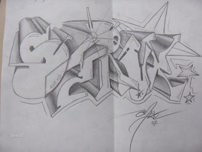 under graffiti sketches