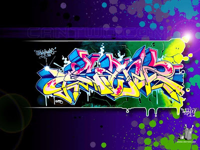 Graffiti design is also added several techniques and effects such as