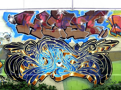 Cool 3D Graffiti With Black and Blue Gradation
