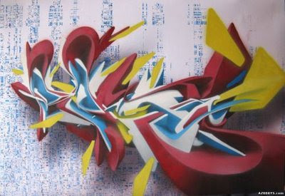 Amazing 3D Graffiti Arrows With Digital Effect