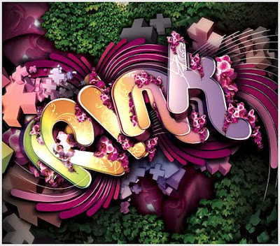 Pink 3D Graffiti Alphabet Art