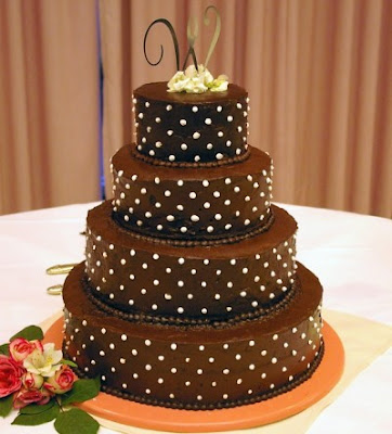Pearls Chocolate Wedding Cake