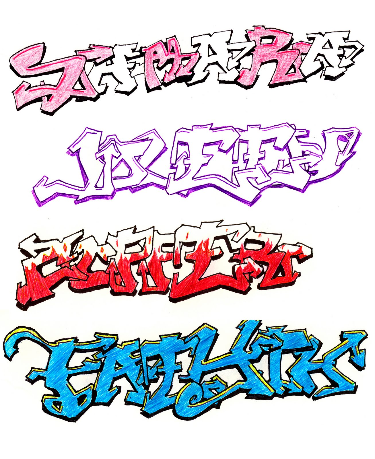 Cool Drawings Of Graffiti Names 9 Steps How To Draw