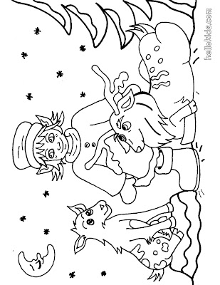 Coloring Pages Reindeer. Reindeer coloring pages