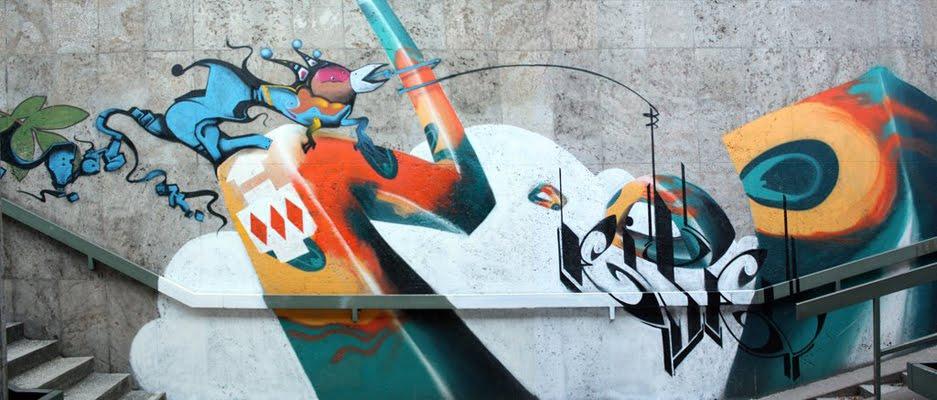 graffiti letters 3d. Graffiti Letters Mural Design