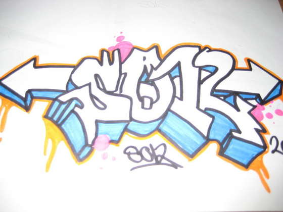 Learn how to draw graffiti letters with step by step drawing tutorial.