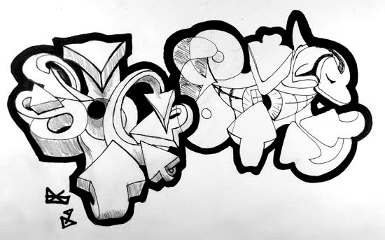 How to Draw Graffiti Design .