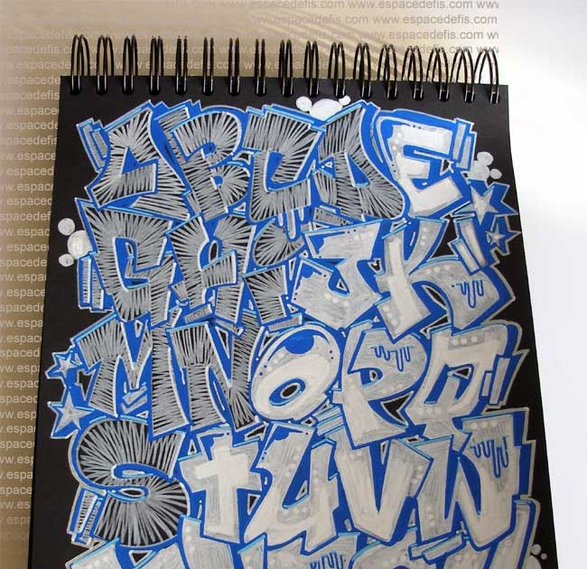 How to Draw Sketch Alphabet in Graffiti Letters ...