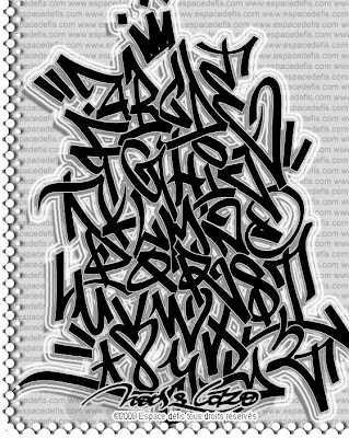 Graffiti Alphabet, Graffiti Alphabet Letters