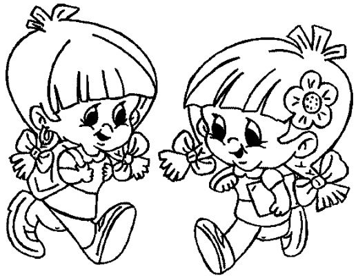 First Day of School Kids Coloring Pages  Disney Coloring Pages