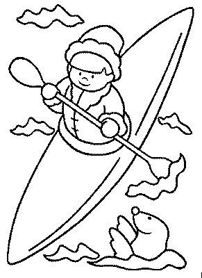 transmissionpress quot Kayak quot Kids Coloring Pages