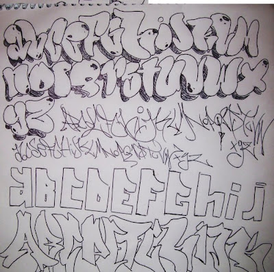 Sketch Graffiti Alphabet BlackBook by Taringa Artists