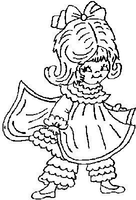 Transmissionpress fancy dress and pantaloons kids for Fancy dress coloring pages