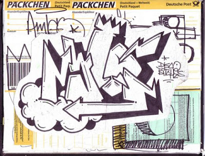 Graffiti Sketch, Wildstyle Graffiti