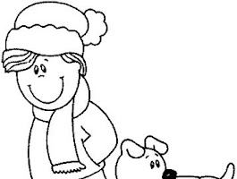 Kid Dog Coloring Pages