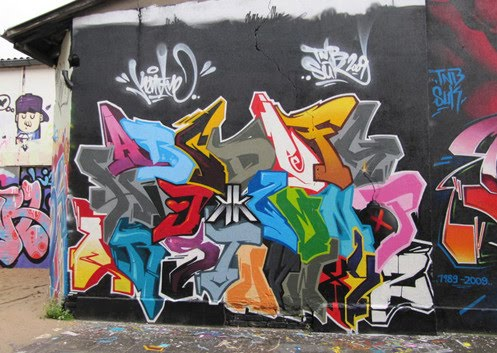 Graffiti wildstyle image - video game developer and publisher american logo images