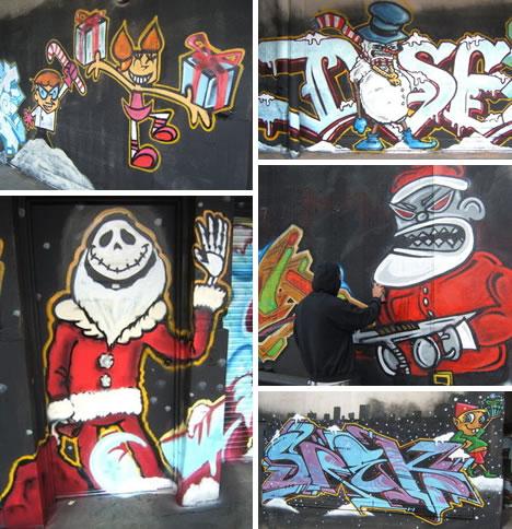 xmas graffiti