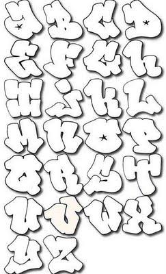 Graffiti Alphabet Bubble Design