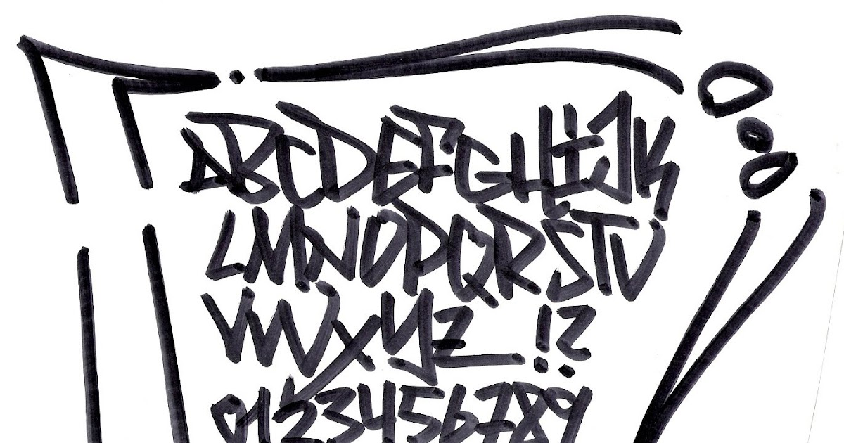 How to write the graffiti alphabet