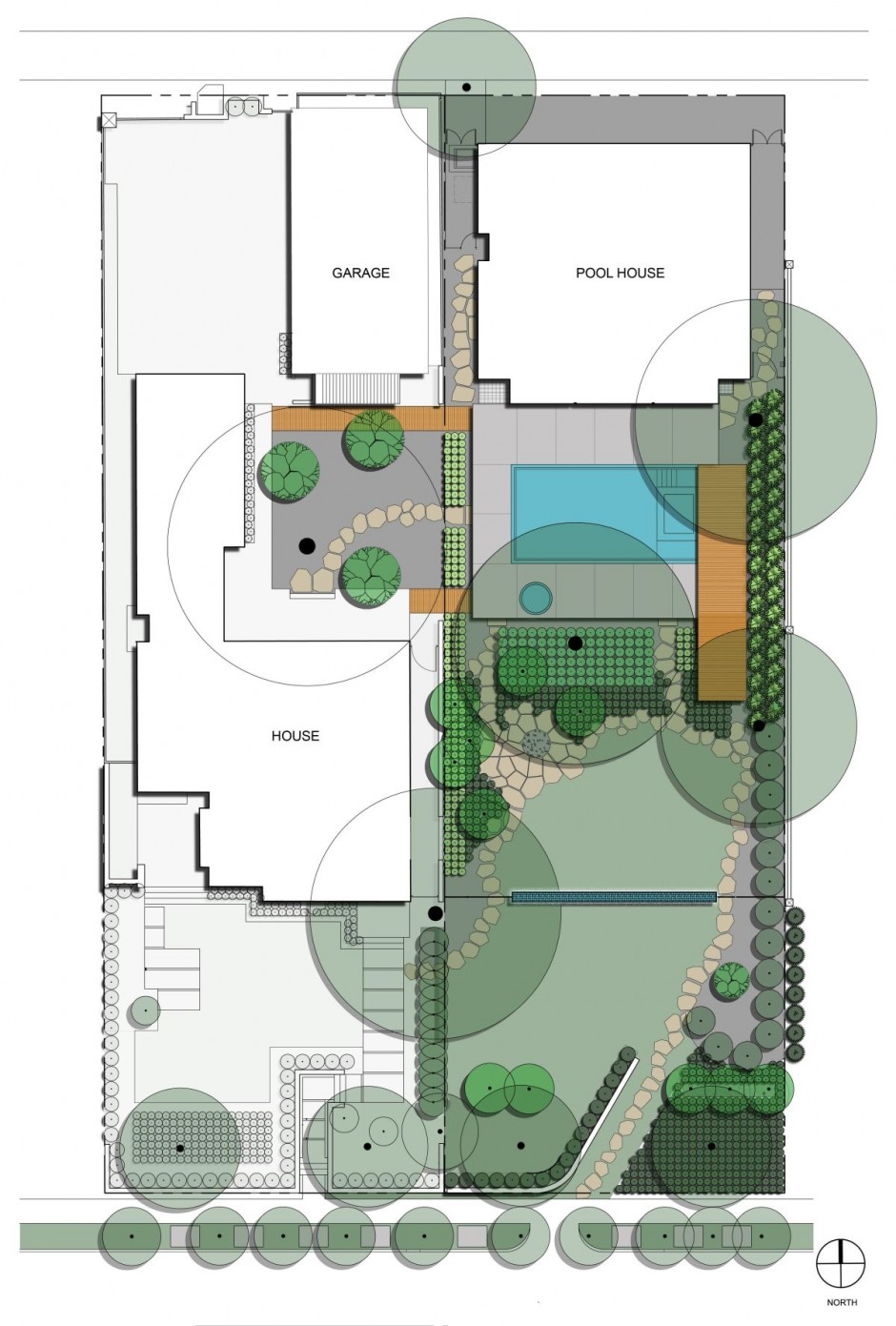House garden design drawing - Site Plan Drawing Courtesy Of Cunningham Architects