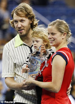 Kim Clijsters celebrates U.S. Open
