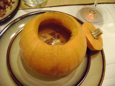 how to cook pumpkin soup with bacon
