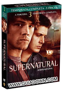 Exclusivo Supernatural/Sobrenatural Terceira Temporada RMVB Dublado