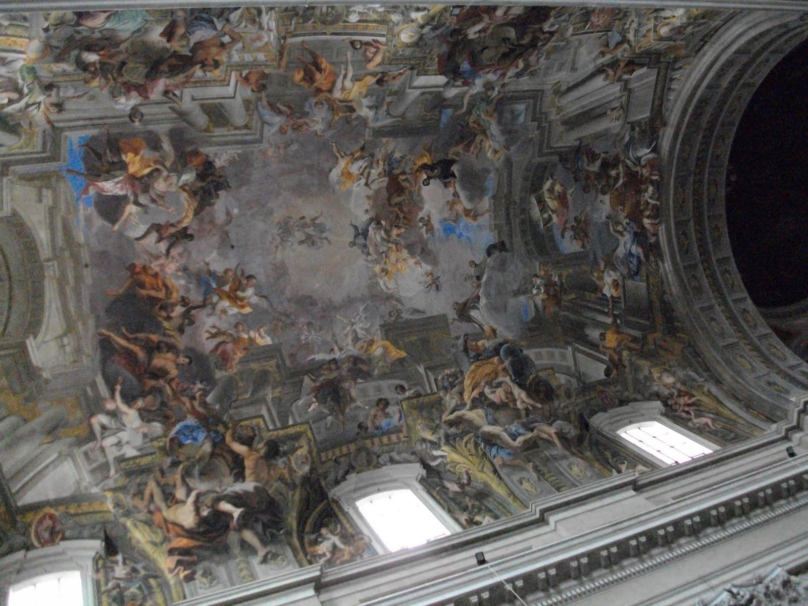 Eglise Rome Plafond Trompe LOeil
