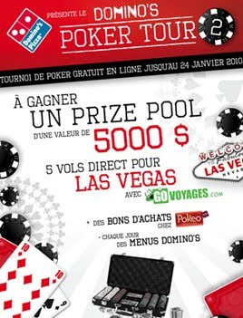 affiche domino's poker tour 2010