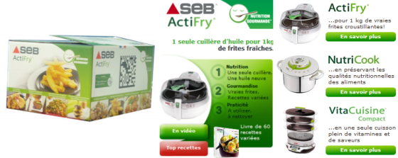SEB Actifry - Code 2D