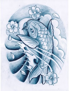Koi Fish Japanese Design Tattoo