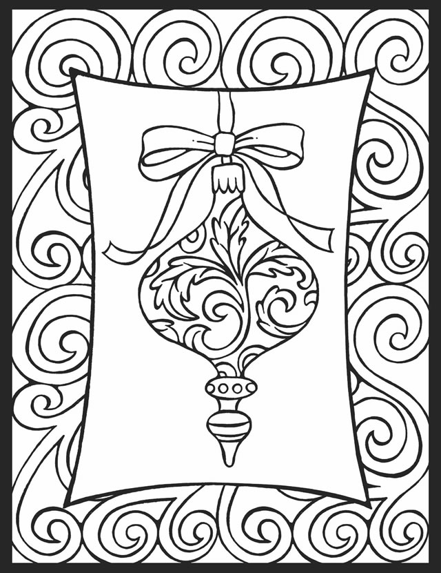 It is a photo of Inventive Free Printable Christmas Coloring Pages for Adults Only