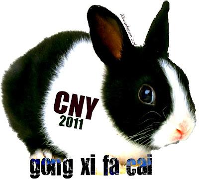 rabbit, chinese new year 2011, selamat tahun baru cina 2011, ucapan selamat tahun baru cina