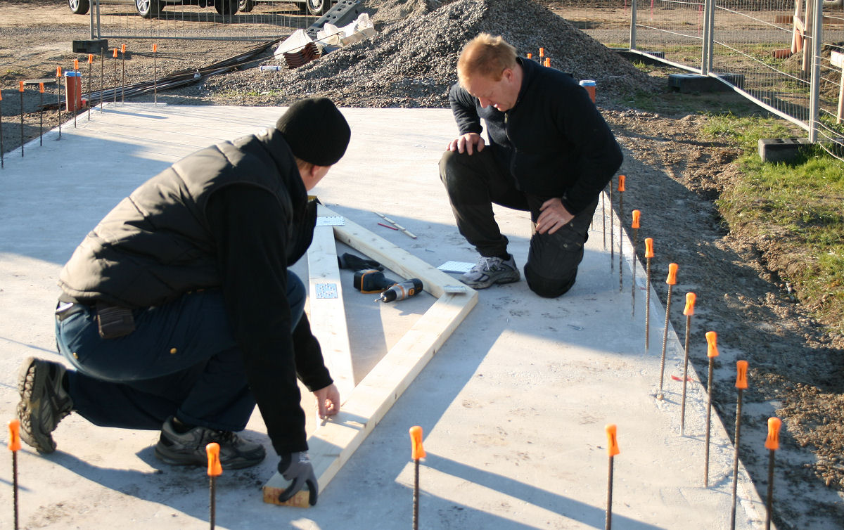 Helenas blogg: bygge av friggebod