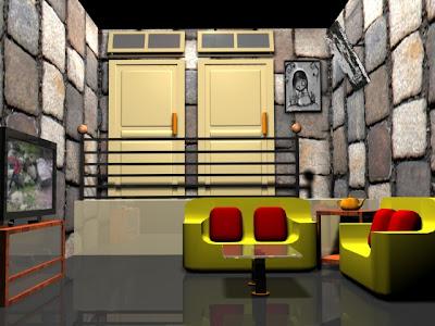 yudha's valentine: interior ruang tamu sederhana