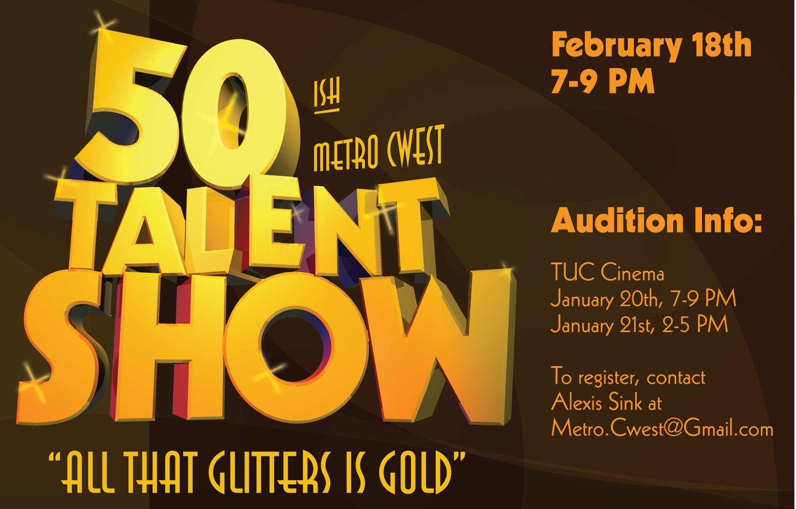 metro cwest 50ish talent show