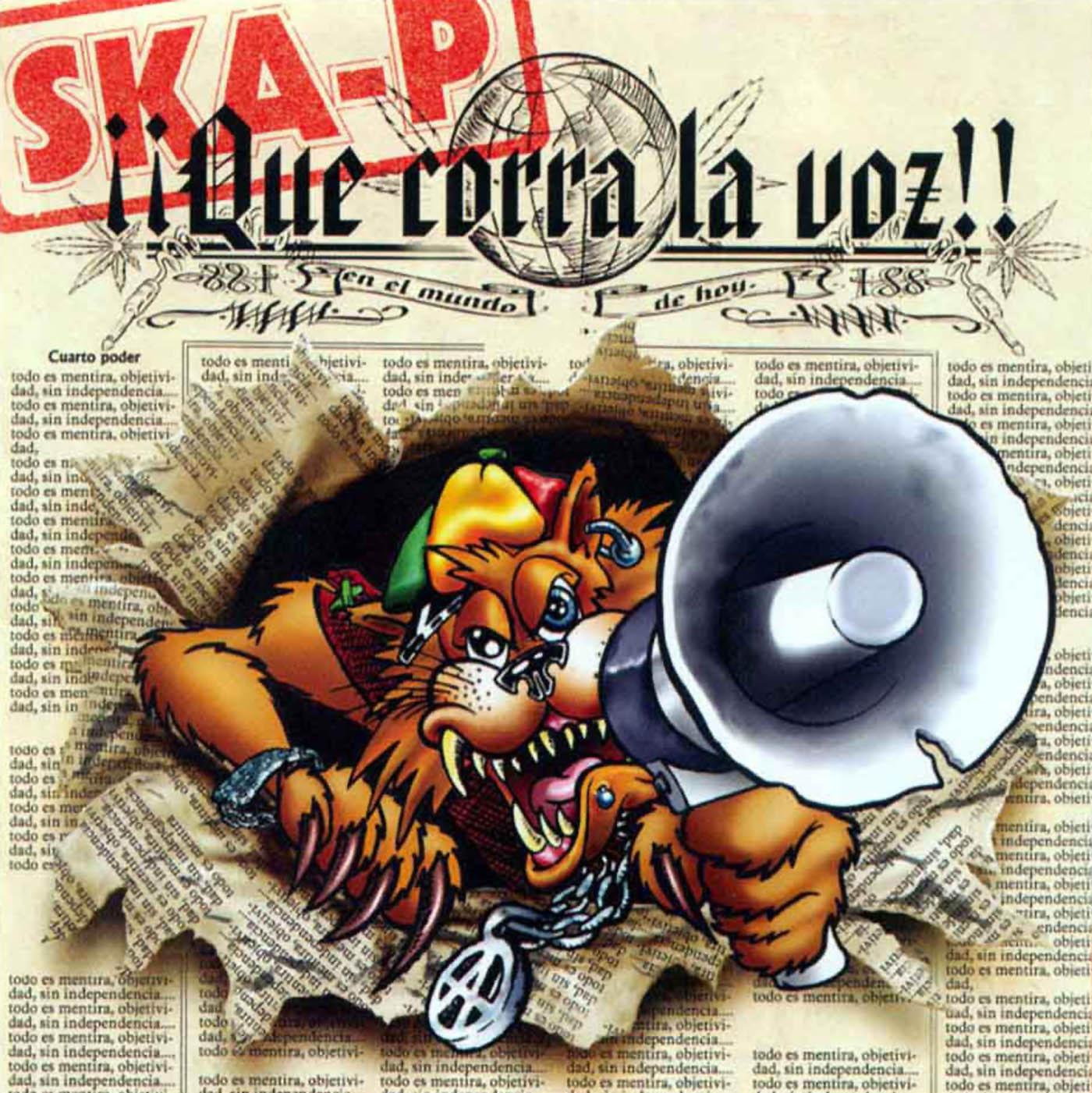 Ska-p Discografia completa Ska_P-Que_Corra_La_Voz-Frontal