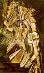 Nude Descending Staircase by Marcel Duchamp
