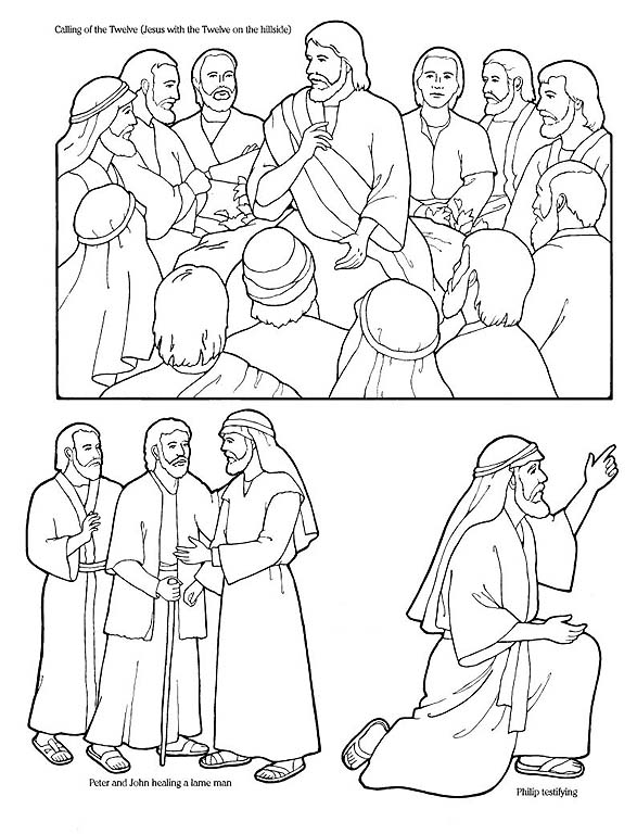 desciples of jesus coloring pages - photo#21