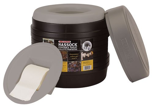 Camping Toilet Filled With Cat Litter