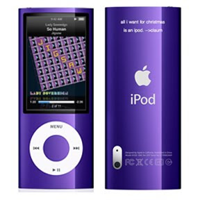 purple ipod nano with video