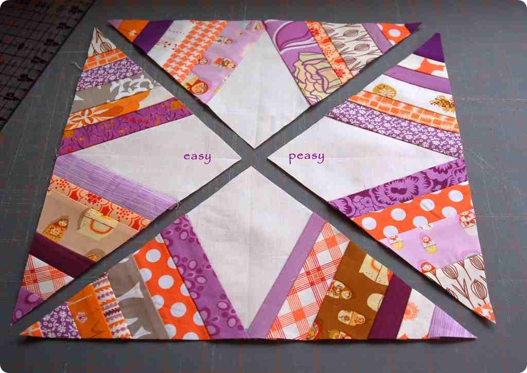 House Of A La Mode Spider Web Quilt Block Tutorial